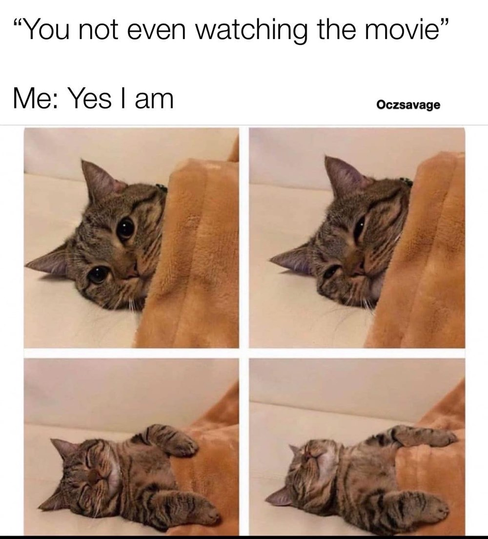 The Secret Is To Not Lie Down During The Movie Memebase Funny