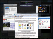 Smartflip's rotating view of apps