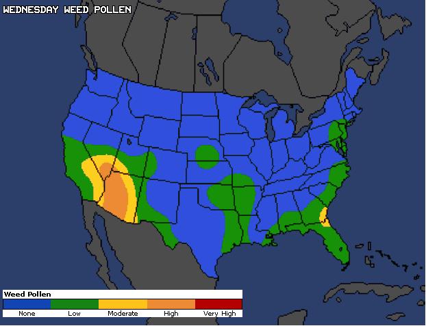 Rio Rancho New Mexico Area Weather - Allergy, Weed Pollen, Grass ...