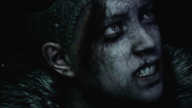 Hellblade – Senua's Sacrifice: Gruß aus der Hölle! Die Schauspielerin Melina Juergens haucht der Hauptfigur durch gelungenens Performance Capturing eindruckvoll Leben ein. ©Ninja Theory