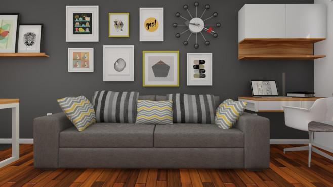 wohnzimmer mit sofa und bildern c istock com s theitern