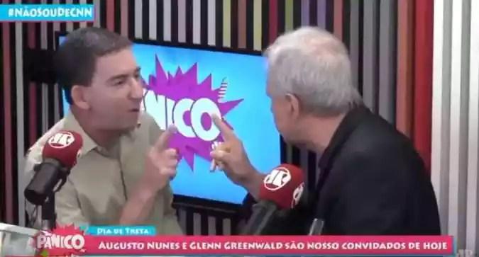 A discussão aconteceu ao vivo, no programa Pânico na rádio da Jovem Pan(foto: Reprodução internet)