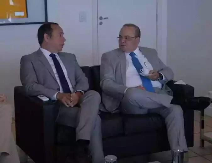 Governador eleito, Ibaneis Rocha, conseguiu verba após reuniões com o ministro dos Esportes, Leandro Cruz(foto: Renato Alves/Equipe de governador Ibaneis Rocha)