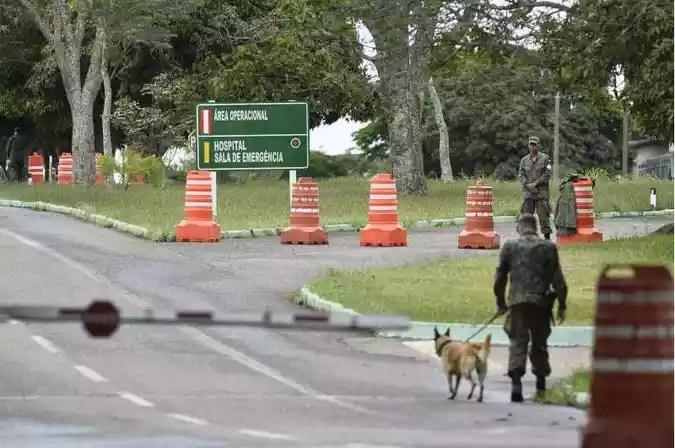 Base Aérea de Anápolis, onde estão os brasileiros vindos de Wuhan na China devido ao surto do Coronavírus(foto: Minervino Junior/CB/D.A Press)