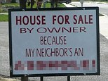 Would this put you off? A seller reveals one small problem with the house - the neighbor