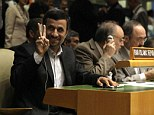 Sign of the times? Iran's President Mahmoud Ahmadinejad gestures as he attends the high level meeting on rule of law in the United Nations General Assembly