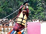 Tragedy: Stuntman Sailendra Nath Roy suffered a heart attack after getting stuck part-way through his feat