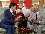 Justin Trudeau (left) and Prince Charles