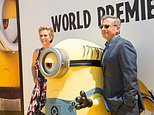 """Actors Kristen Wiig (L) and Steve Carell, pictured in June 2017 at the premiere of """"Despicable Me 3,"""" which took the top grossing slot at the North American box office"""