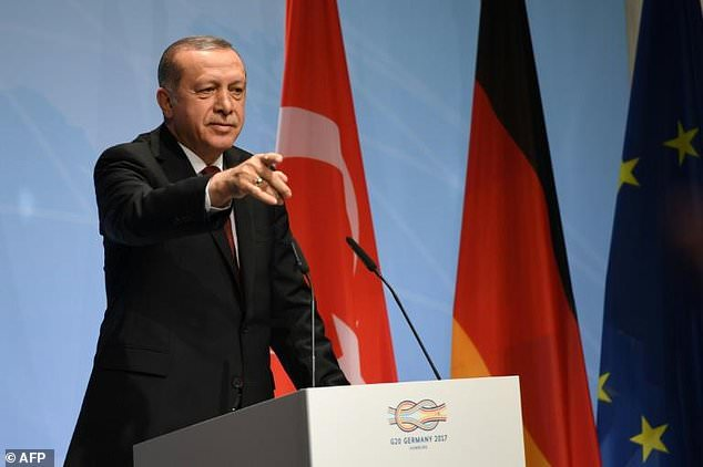 During the closing session of the G20 summit in Hamburg, Turkish President Recep Tayyip Erdogan announced that Turkey would never allow a Kurdish state in Syria