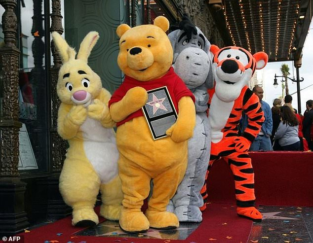 Officials are said to have banned Winnie the Pooh in 2017 after internet users compared the national leader to the lovable bear in online posts. Rabbit, Winnie The Pooh, Eeyore and Tigger pose for photos as Winnie The Pooh receives a star on the Hollywood Walk of Fame
