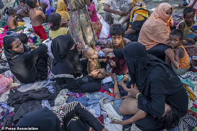 Newly arrived Rohingya Muslims in Bangladesh. (AP Photo/Dar Yasin)