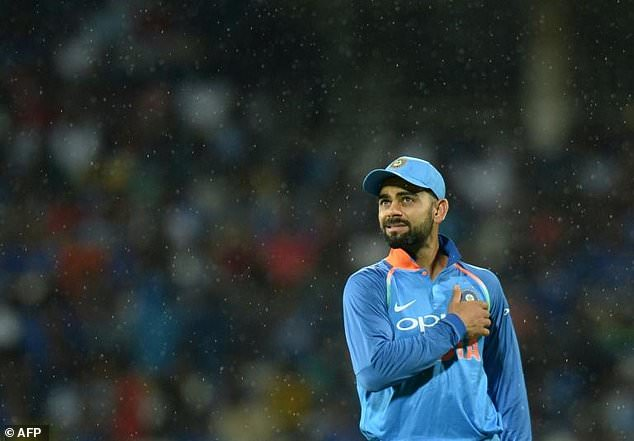 Indian cricket captain Virat Kohli leaves the field on September 17, 2017