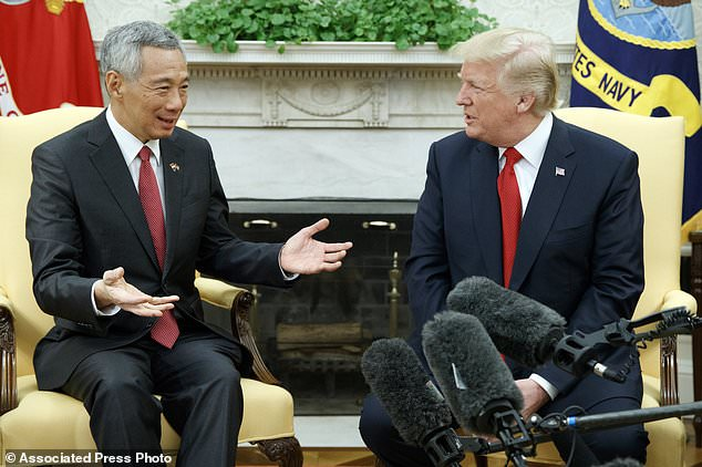 Image result for Lee Hsien Loong visit The White House