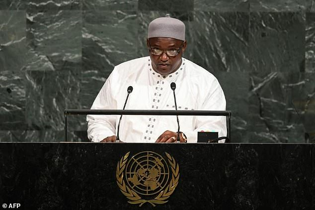 Gambia's President Adama Barrow signed a UN treaty on the abolition of capital punishment last year