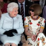 The Queen Spotted Front Row at London Fashion Week
