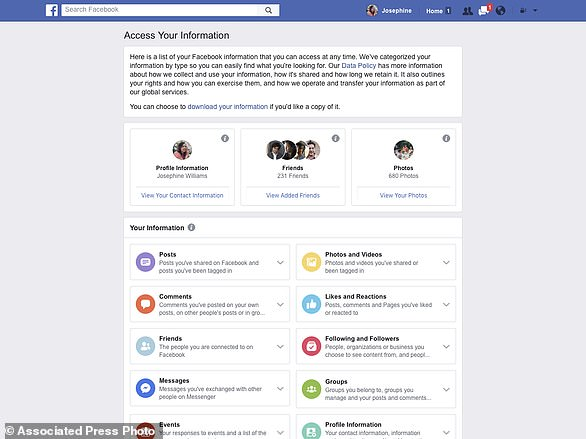 This image  shows a redesign of Facebook's privacy tools. The changes won't affect Facebook's privacy policies or the types of data it gathers on users, but the company hopes  users will have an easier time navigating its complex settings menus