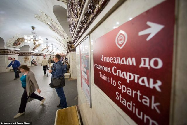 Most of the station names are written in the local Cyrillic alphabet, although English translations were added in a recent upgrade