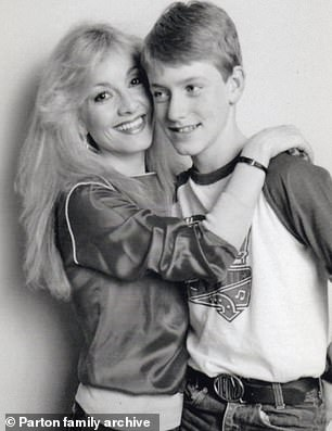 Stella with her son Tim in 1981