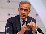 Governor of the Bank of England Mark Carney speaks at an inflation report press conference in London last month. The report showed that price rises will hit 2.2 per cent next year and 2.1 per cent in 2020