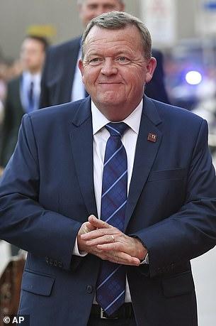 Also in attendance for last night's dinner was Danish Prime Minister Lars Lokke Rasmussen
