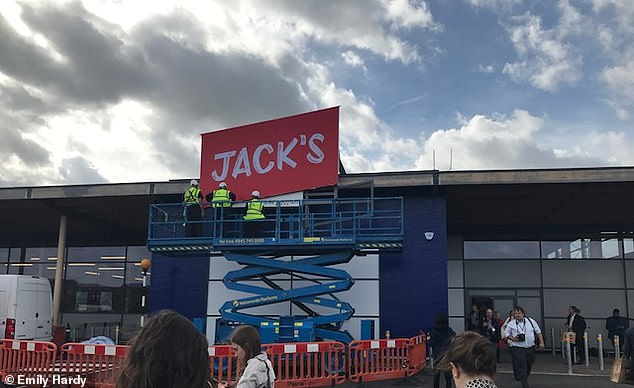 The first Jack's store is in a 'ghost' unit that has stood empty since 2014 when Tesco hit financial problems and had to row back on its expansion plans