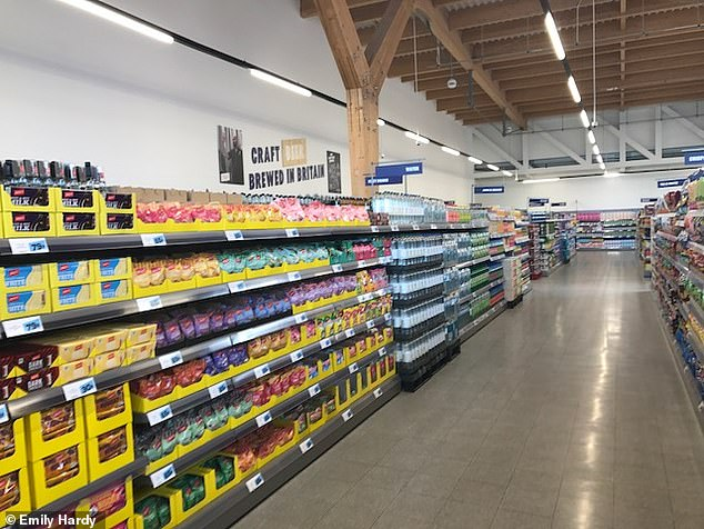The store is low cost with wide aisles for easy replenishment and just 2,600 products