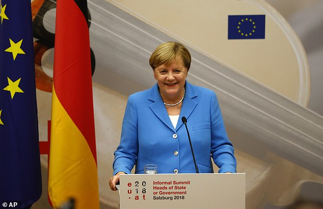 Angela Merkel said there must be substantial progress by a summit in October in order for a deal to be ratified by the Brexit date in March