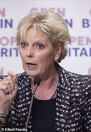 Arch Remainer Anna Soubry (pictured at a Brexit event in Westminster in June) compared Chequers to a dead parrot
