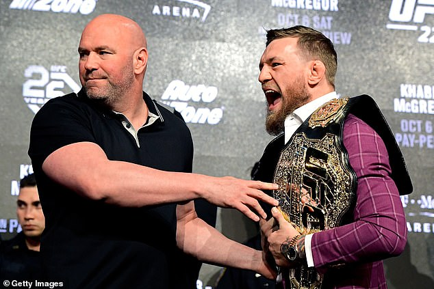 Nurmagomedov was subjected to around half-an-hour of McGregor's verbal onslaught
