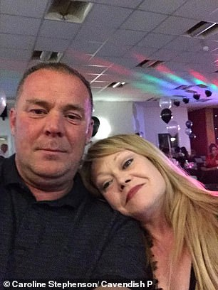 The day before Ms Stephenson's death the couple (pictured) had been out to watch the Champions League Final and see their team Liverpool play