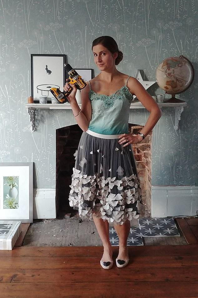 Ready for action: Alice de Araujo has a DIY blog simplythenest.com