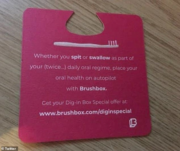 Toothbush company Brushbox has been forced to apologise over its 'spit or swallow' advert aimed at female fresher students