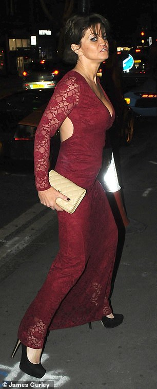 Blackless: Peeping out of Daniella's cut out frock was one of her inkings
