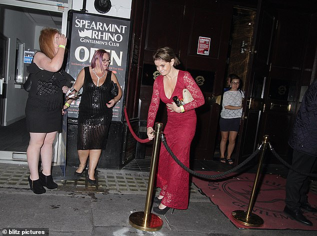 Making her exit: Daniella stepped out of the club appearing to make her way home