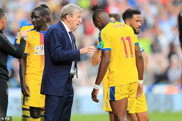 Crystal Palace manager Roy Hodgson has told Zaha to put his recent frustrations behind him