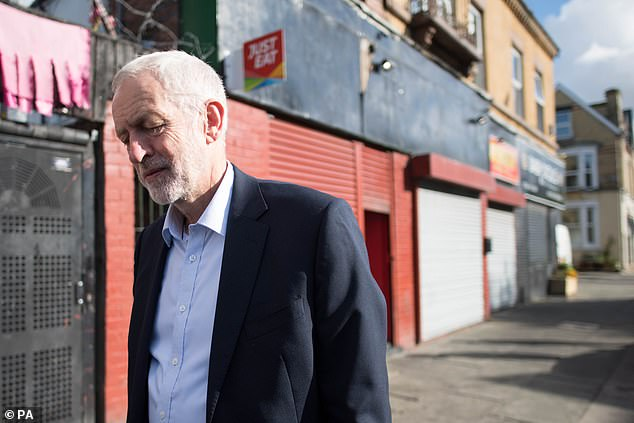 Jeremy Corbyn (pictured in Liverpool today) - a lifelong pacifist - used to be the chairman of the Stop the War Coalition, but stepped down. Many of his close parliamentary allies addressed today's meeting where they called for Trident to be scrapped and an anti-war government to be ushered in