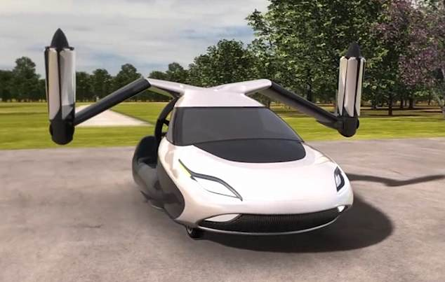 The Transition on land.The first of the two-seat hybrid-electric vehicles, which can switch between driving and flying modes in less than a minute, will be delivered next year