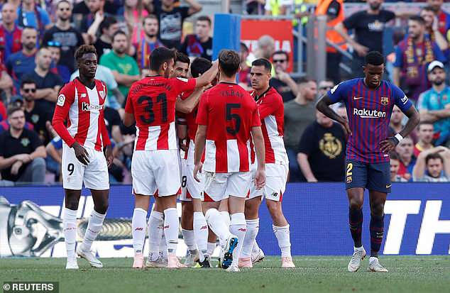 It was Athletic Bilbao who were first to strike, sending Barcelona into panic mode at 1-0 down