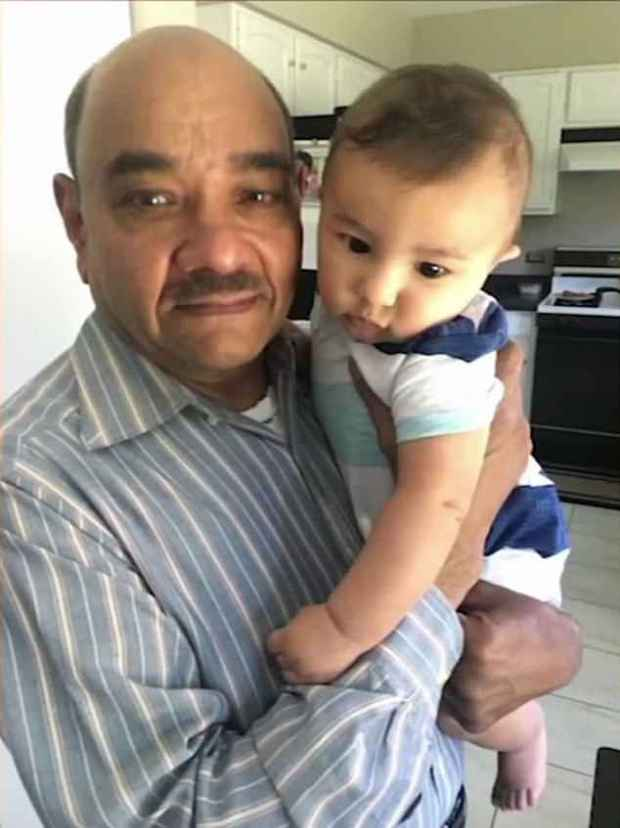 Kethireddy is pictured with his grandson