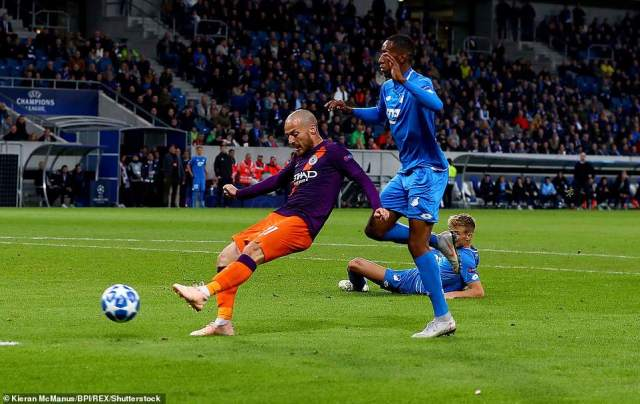 The Spaniard drove his shot low and hard across the Hoffenheim goal to find the net and seal a vital three points for City