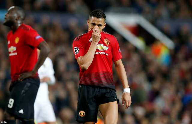 A frustrated Alexis Sanchez covers his face with his shirt during a night lacking in entertainment in the Champions League