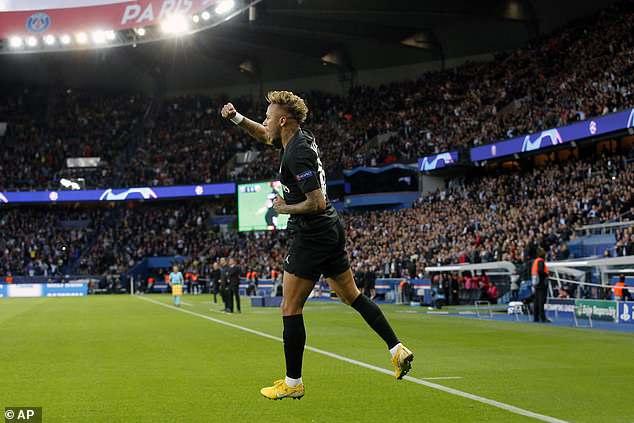 Neymar shone for the Ligue 1 giants against Belgrade on Wednesday evening in Paris