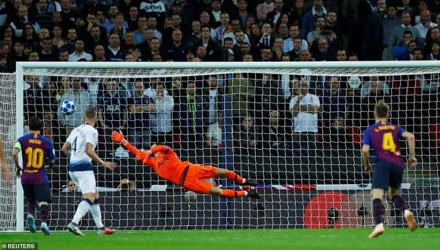 He struck a sublime first-time volley while flying through the air that left Lloris helpless as it flew into the back of the net