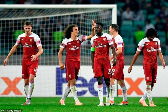 Arsenal secured a comfortable 3-0 victory over Qarabag to maintain their perfect start to the 2018-19 Europa League