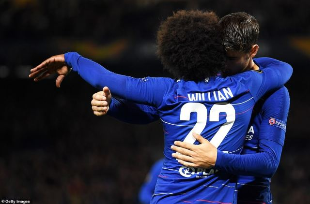 Brazilian winger Willian applied the final touch before Morata was able to get into to position to put Chelsea into the lead