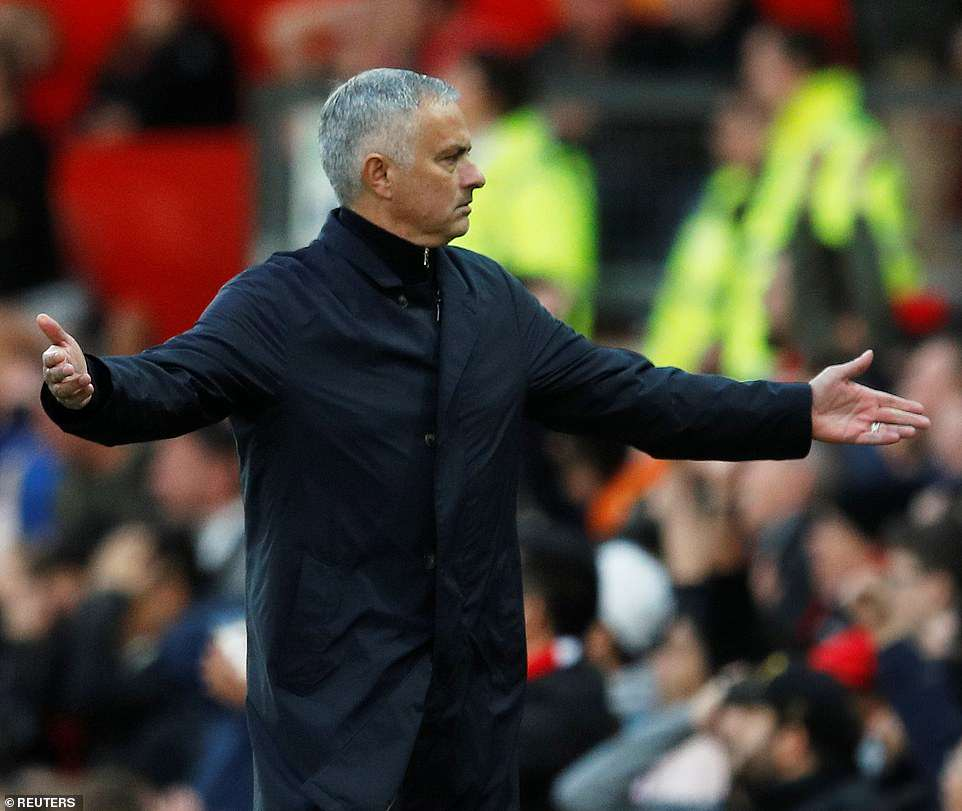 United manager Mourinho was livid as his side conceded two early goals against Newcastle in a woeful start to the game