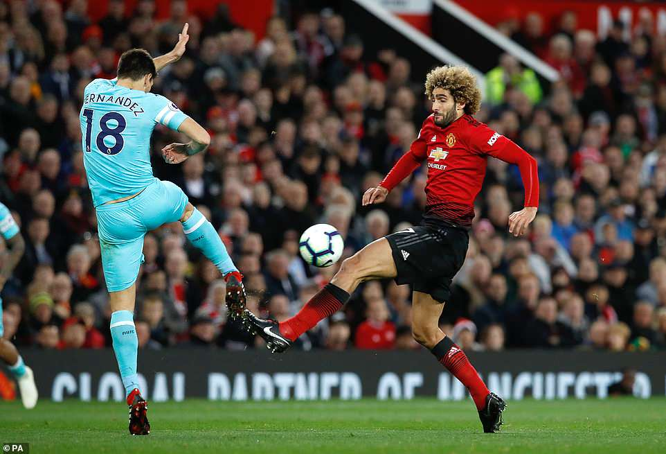Mourinho brought on midfielder Marouane Fellaini in place of Scott McTominay at half time as he shuffled his pack