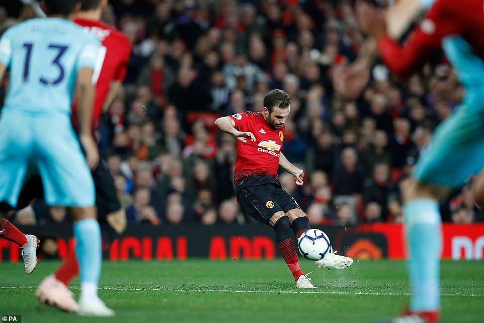 Substitute Juan Mata scored an excellent free-kick in the second half to reduce the deficit for United against Newcastle