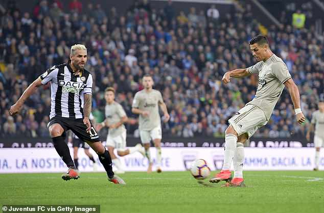 Cristiano Ronaldo put Juventus 2-0 up in the first-half as his side beat Udinese on Saturday